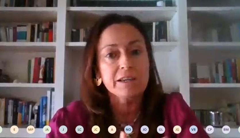 Amelia Martín Uranga, durante su intervención en el foro