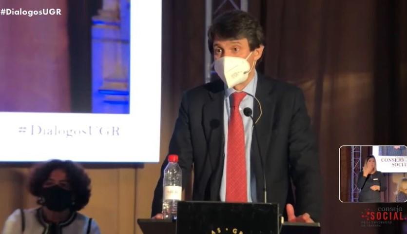 Juan López-Belmonte, durante su intervención.